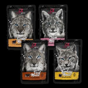 alpha Spirit Katzenfutter Frischbeutel Multipack 8 x 85g